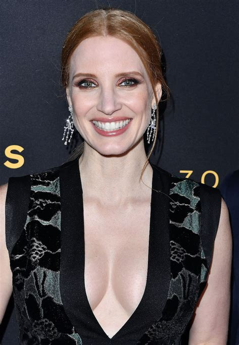 Jessica Chastain Was All Cleavage At 'The Zookeeper's Wife