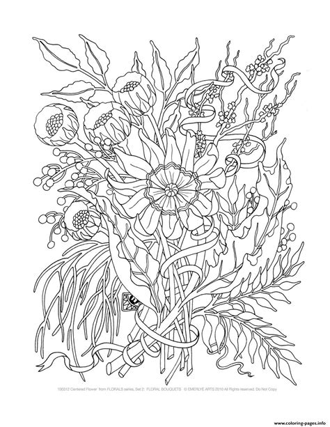 Trend Elegant Flowers Adult Coloring Pages Coloring Pages