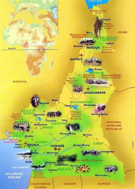 Detailed tourist map of Cameroon | Cameroon | Africa