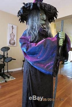 Very Rare Gemmy Halloween Life Size Animated Witch Fogging