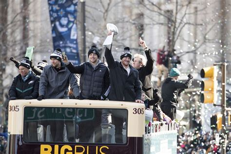 Jason Kelce caps Super Bowl parade with profanity-laced