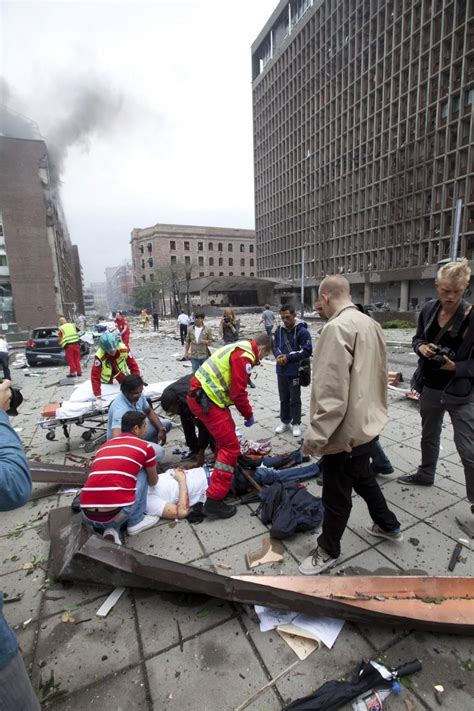 Aftermath Photos of Twin Attacks in Oslo, Norway