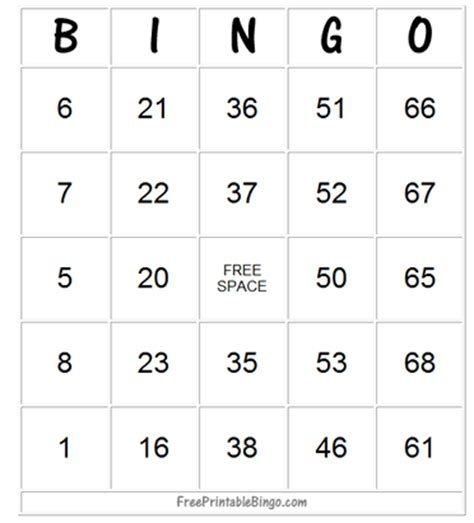 How To Play Bingo - Free Printable Bingo