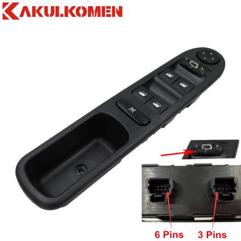 Driver Side Control Window Switch For PEUGEOT 307 SW CC