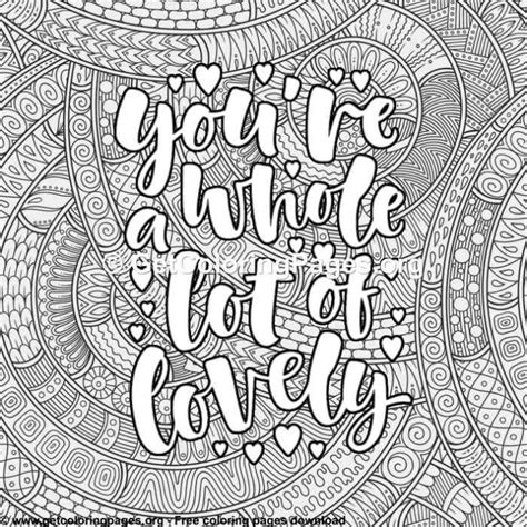 Love Lettering – You are Whole Lot of Lovely Coloring