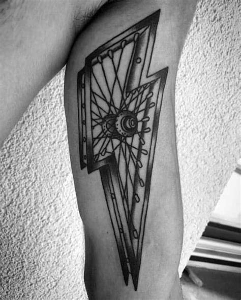 50 BMX Tattoos For Men - Cool Bicycle Ink Design Ideas