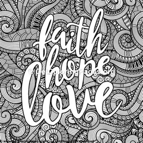 Love Lettering – Faith Hope Love Coloring Pages