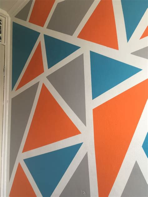 Wall art done with frog tape