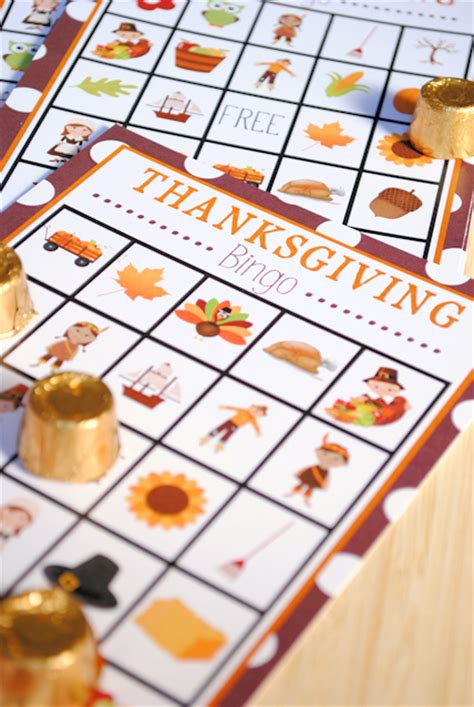 Free Printable Thanksgiving Bingo Game - Crazy Little Projects