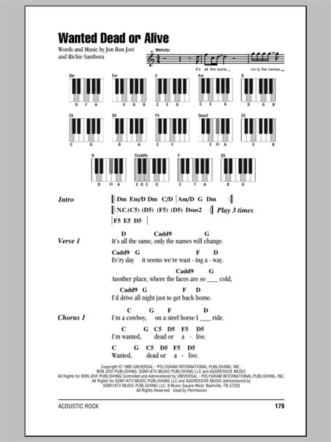 Wanted Dead Or Alive | Sheet Music Direct