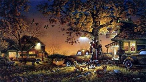 terry redlin farm prints | Landscape art, Country art